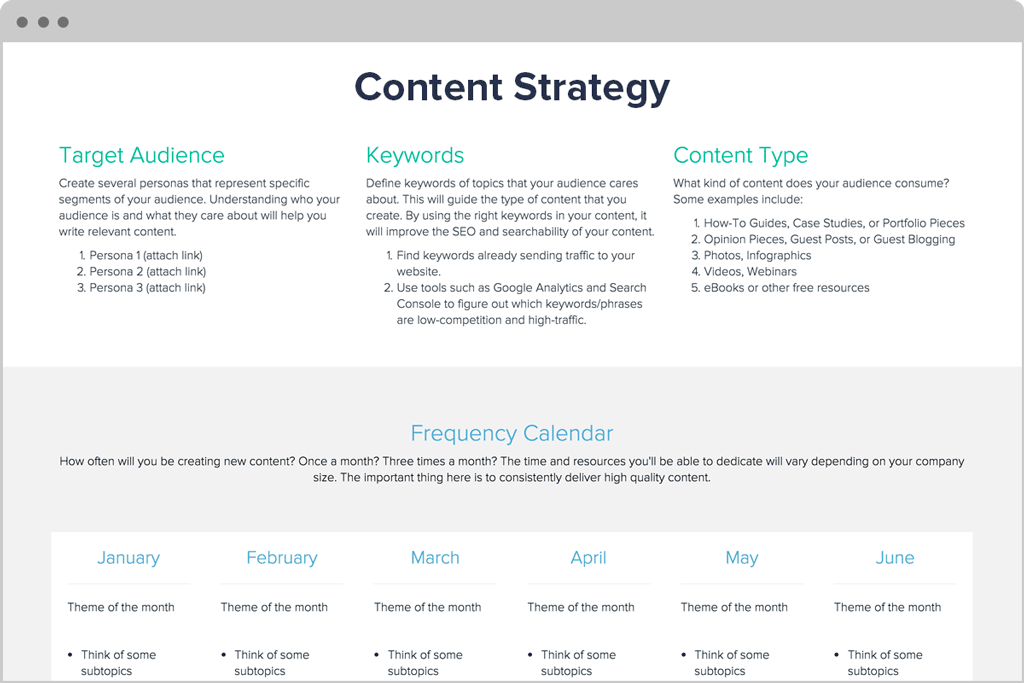 Content Stategy Planner by Xtensio
