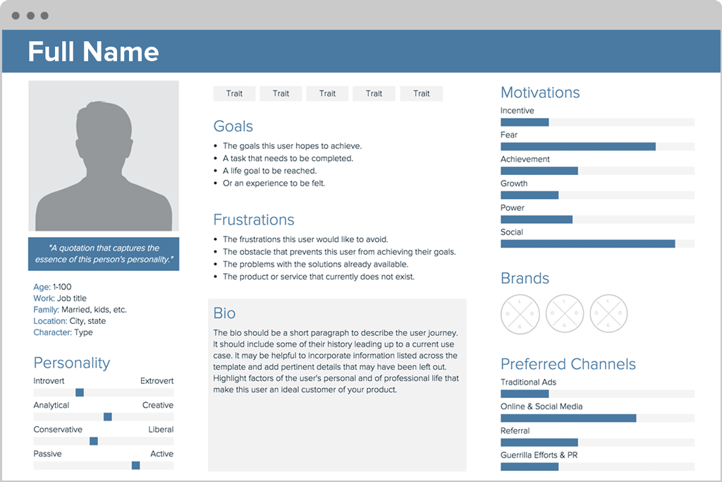 User Persona Creator by Xtensio