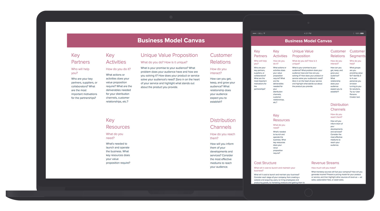 Business Model Canvas Template and Examples | Xtensio