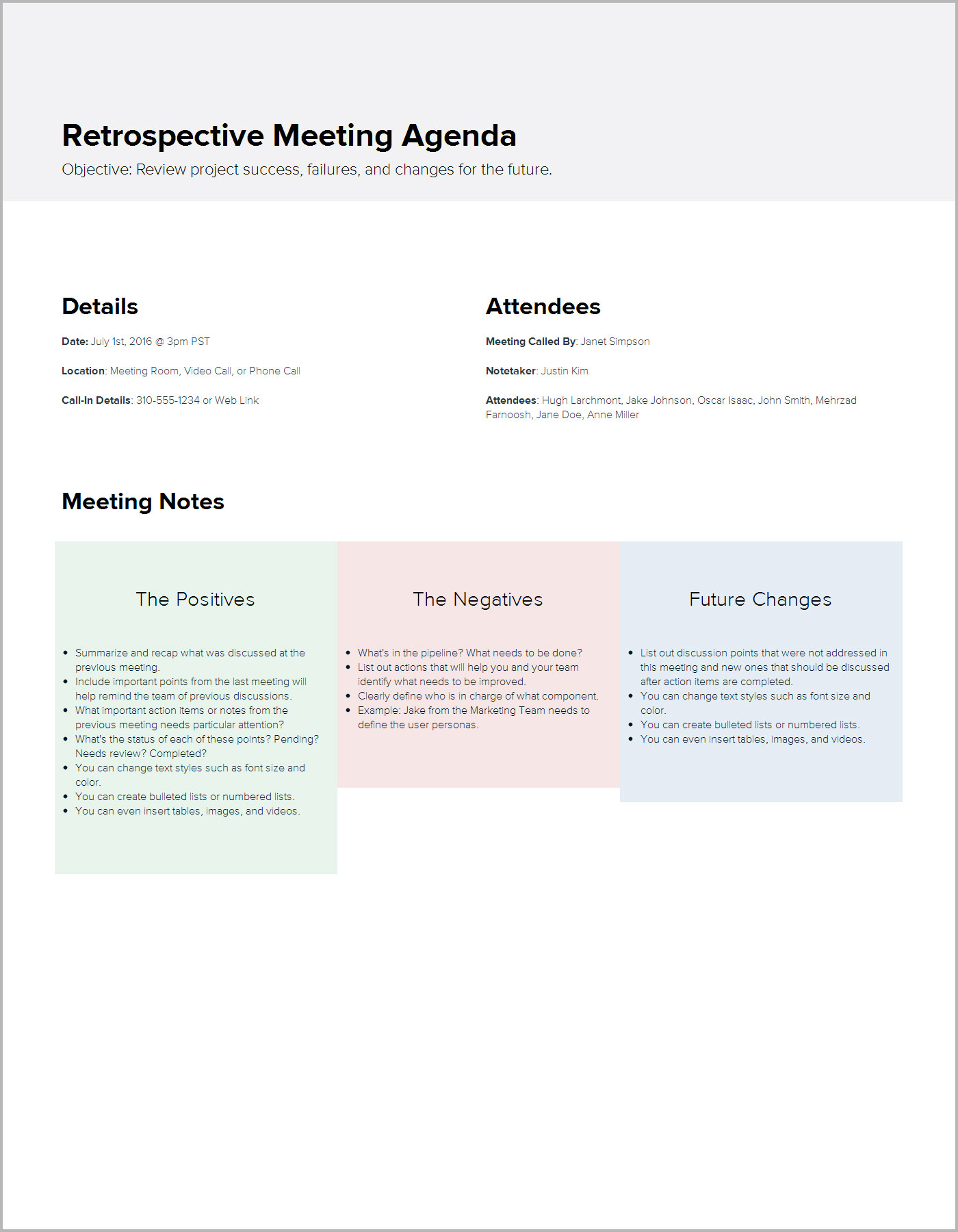 12 sales meeting agenda templates free sample example format