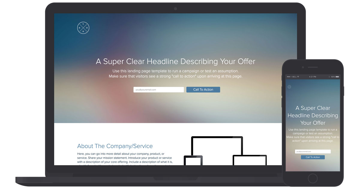 Landing Page Template And Examples Xtensio - Single page landing page template