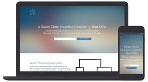 Design your own customized Landing Page