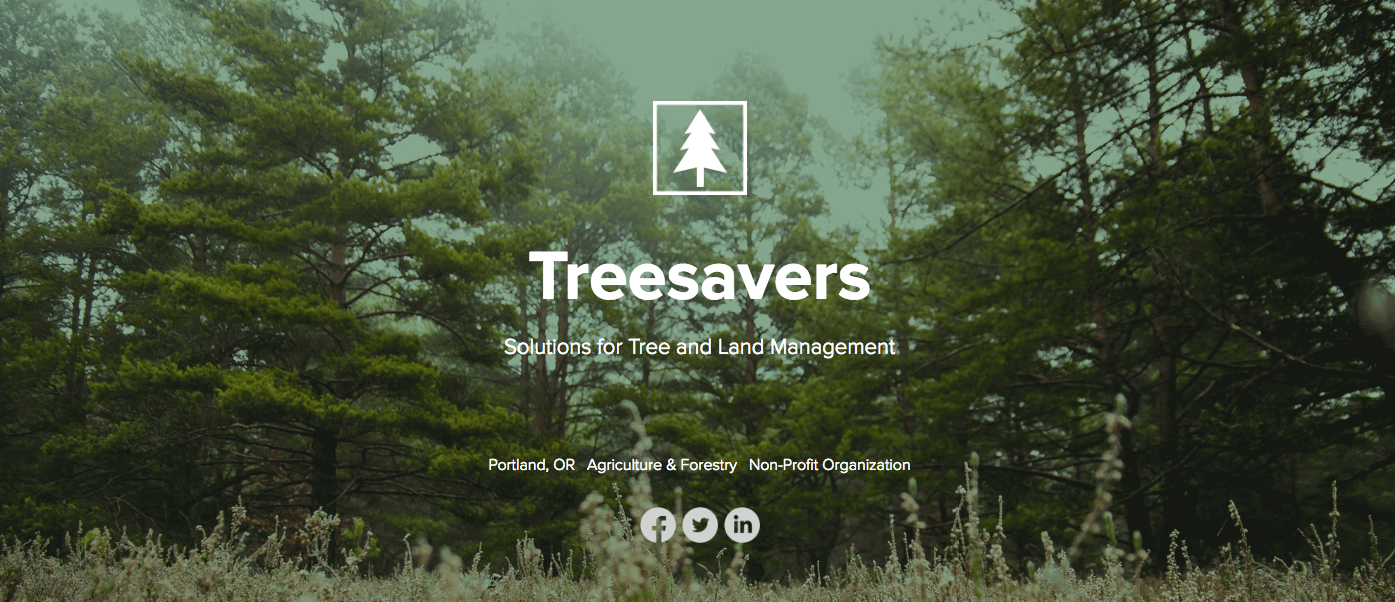 treesavers overview header one-pager