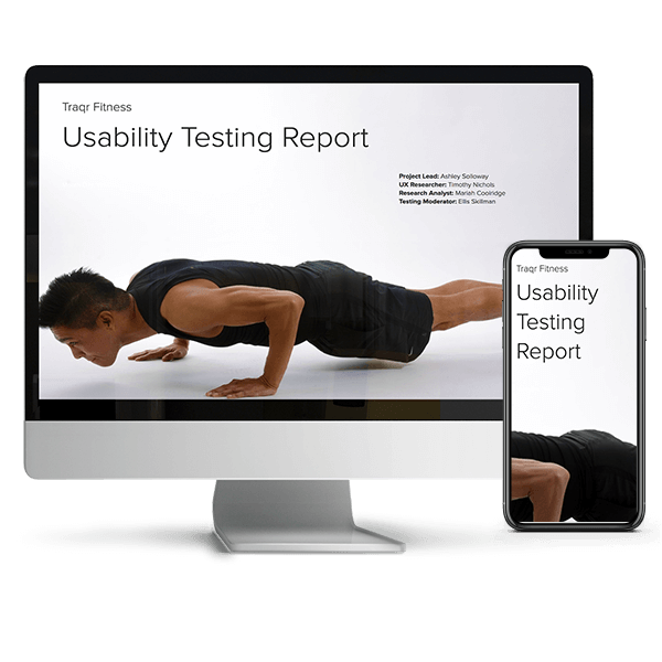 usability testing report example: traqr