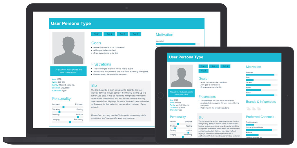 User Persona Template and Examples | Xtensio