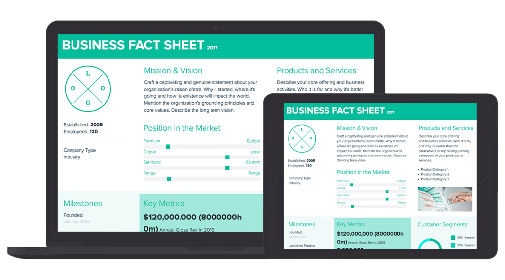 Free Fact Sheet Template By Xtensio