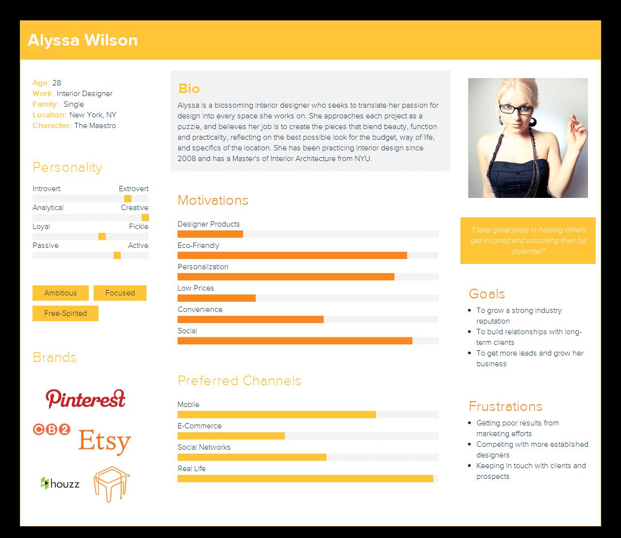 Designer User Persona