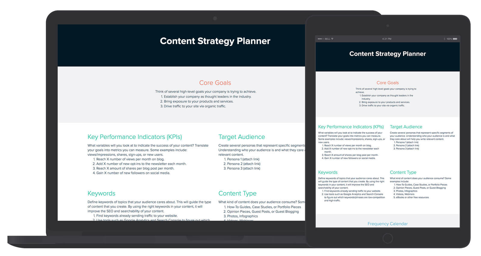Content Strategy Template And Examples Xtensio - Content strategy template