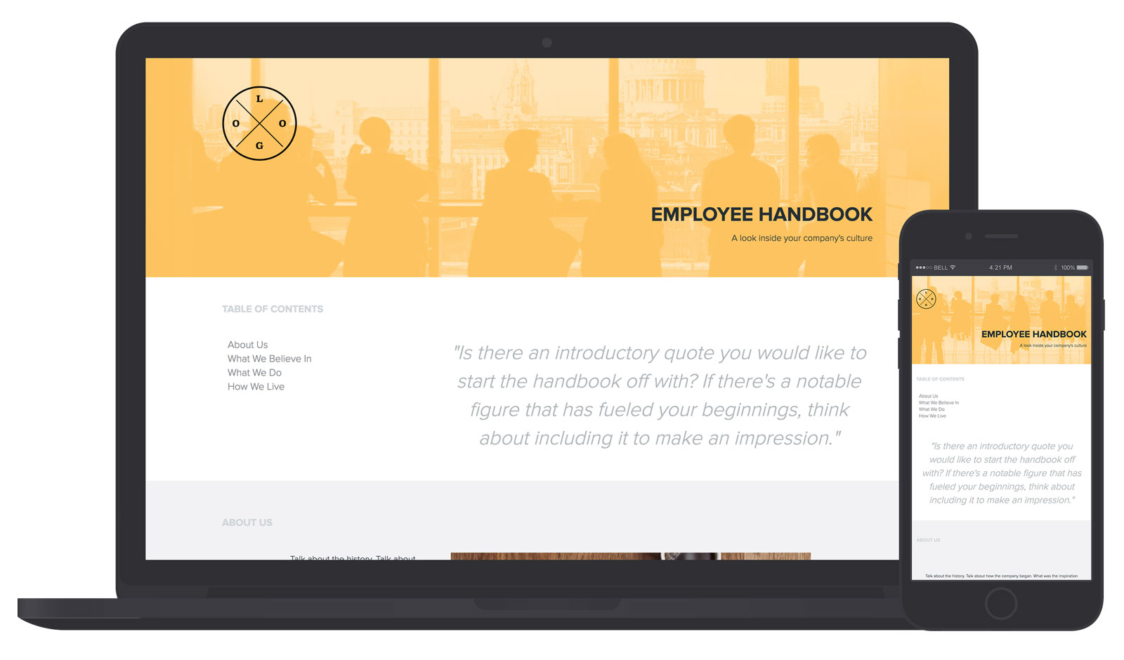 Employee Handbook Template And Examples Xtensio - Employee operations manual template
