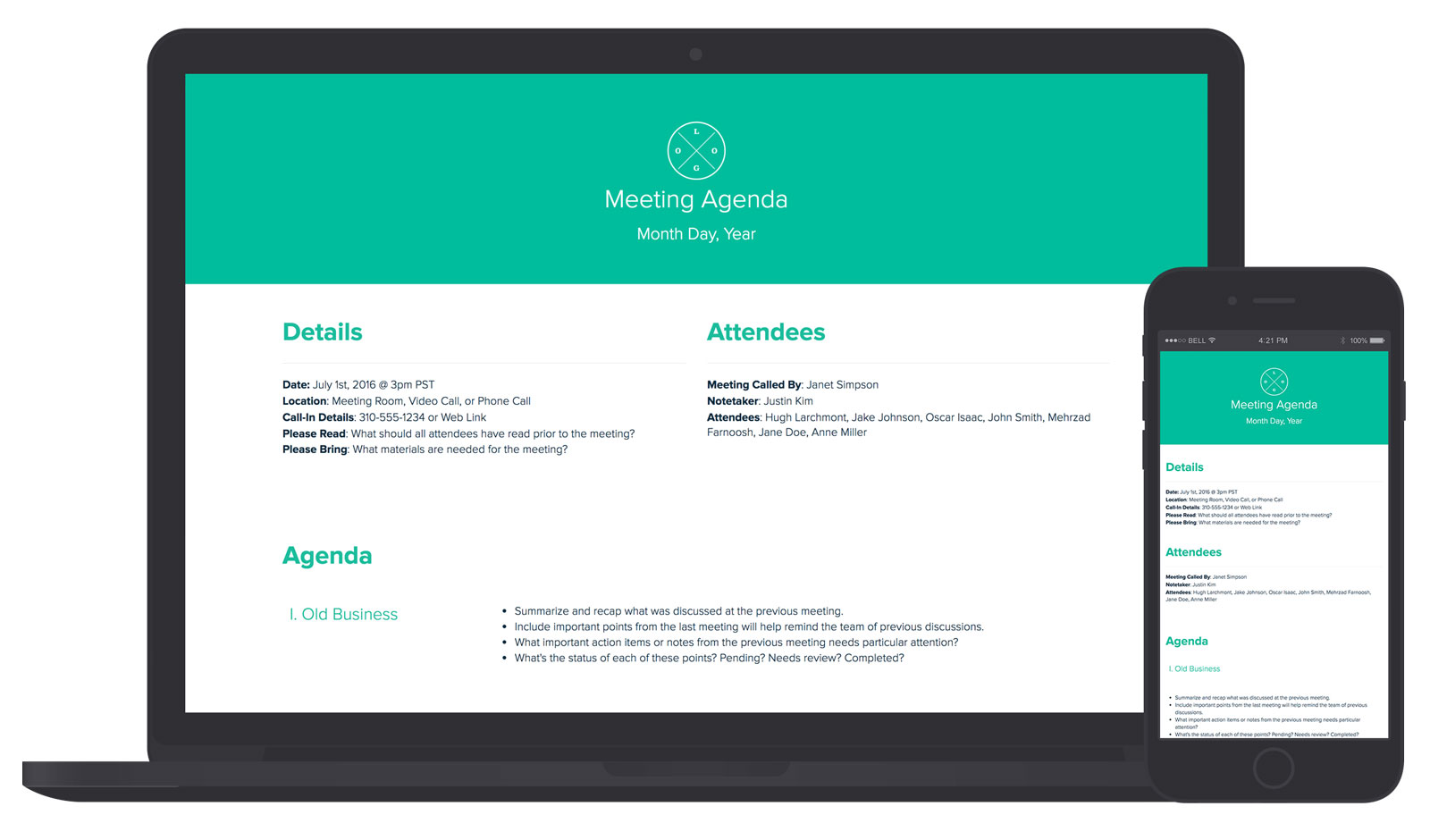 Meeting Agenda By Xtensio  Agenda Creator