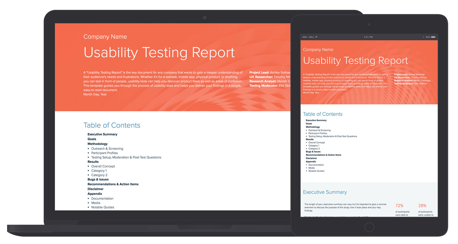 Usability Testing Report Template And Examples Xtensio