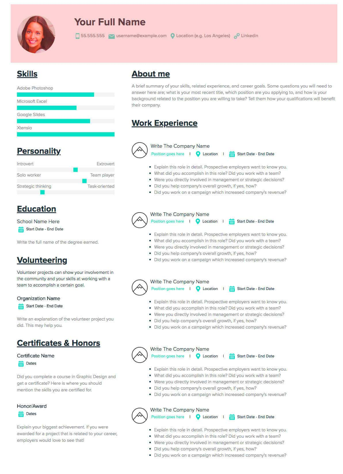 How To Make A Resume A Step By Step Guide Samples