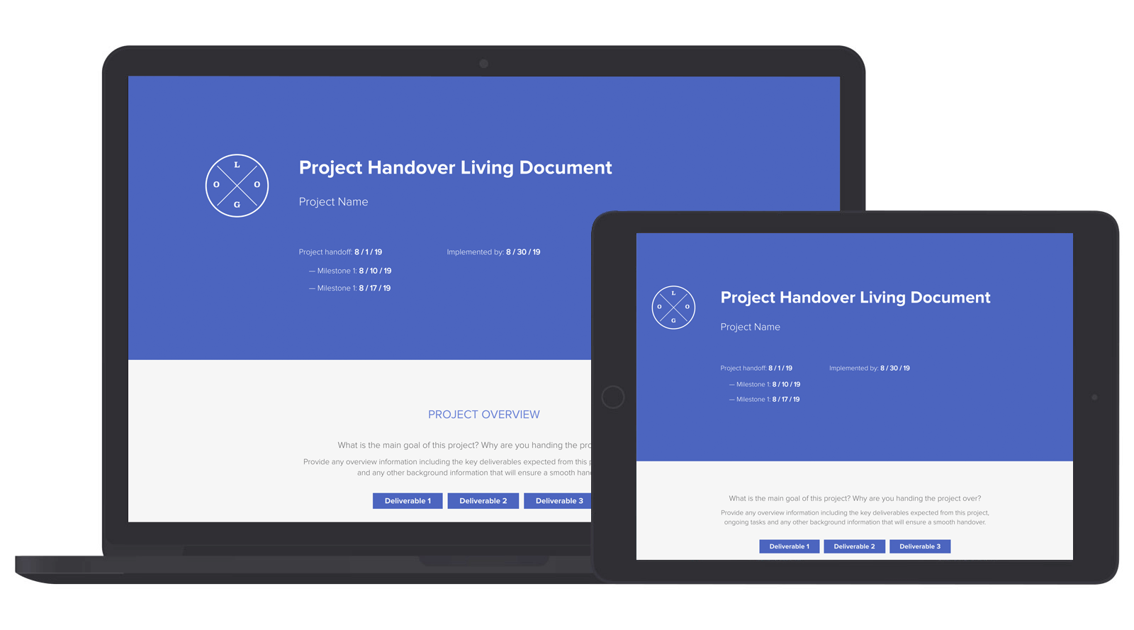 Project Handover Living Document Template New Xtensio