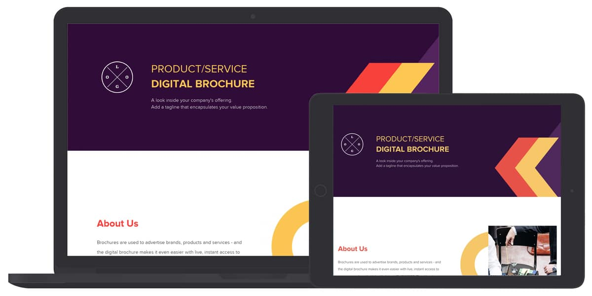 digital brochure responsive template