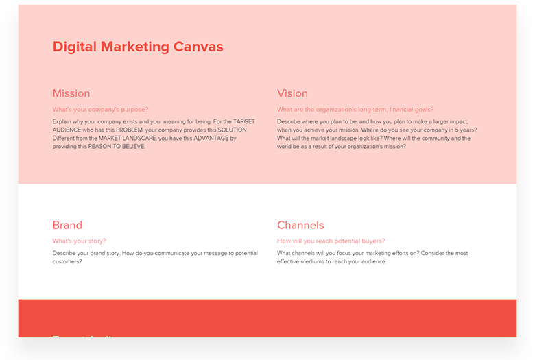 Digital Marketing Canvas