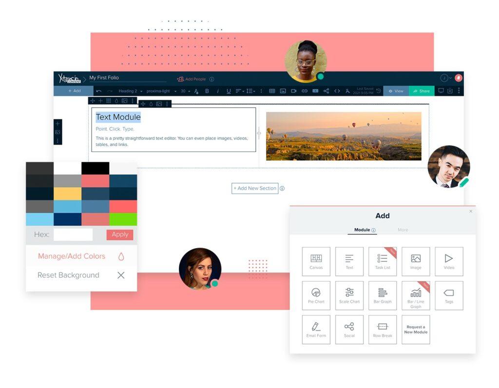 Team Members using Xtensio App to create branded documents